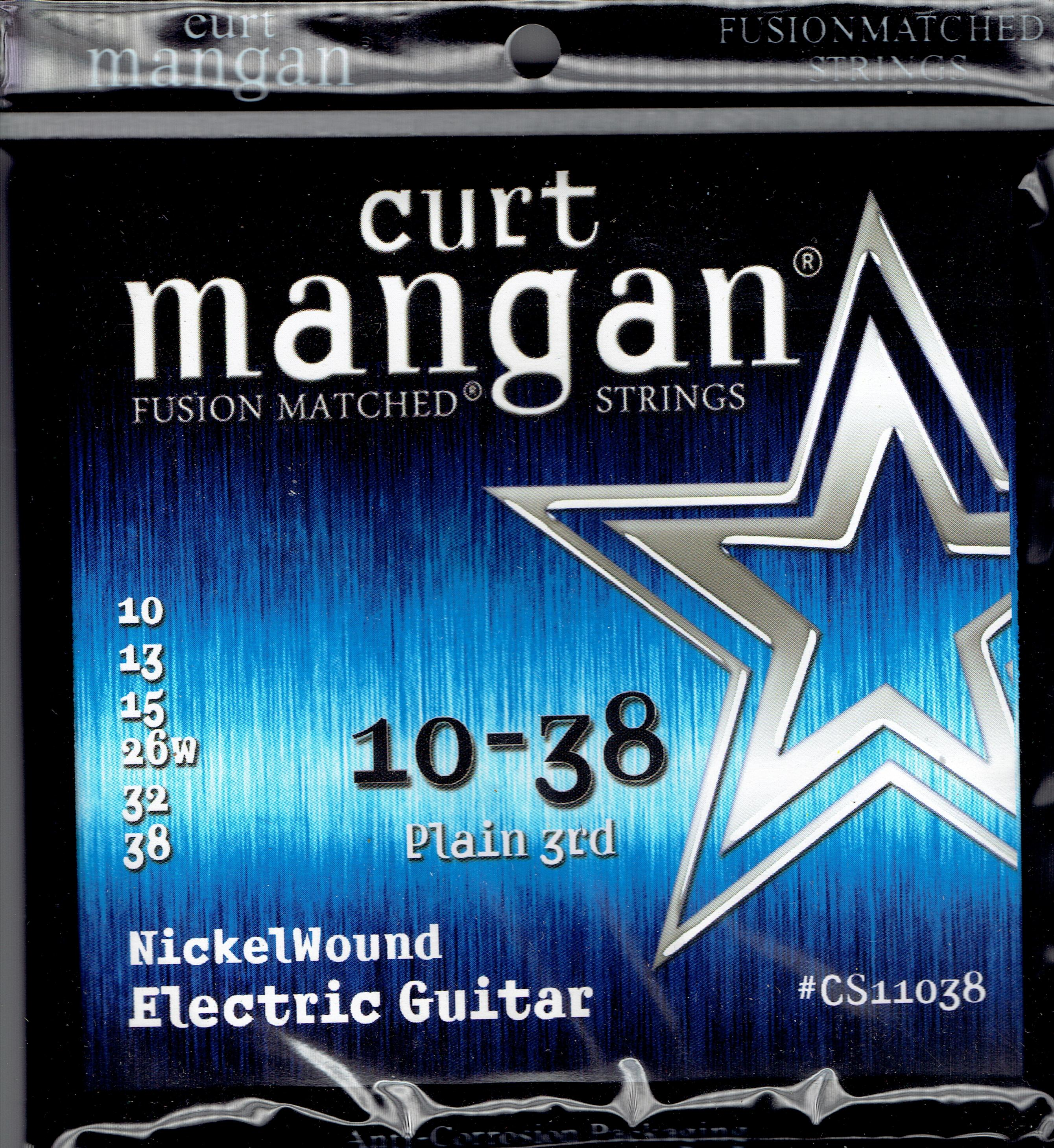 Curt Mangan 10-38 Nickel wound guitar strings