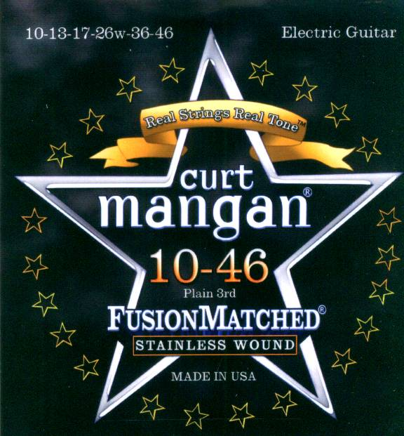 Curt Mangan stainless wound guitar strings 10-46