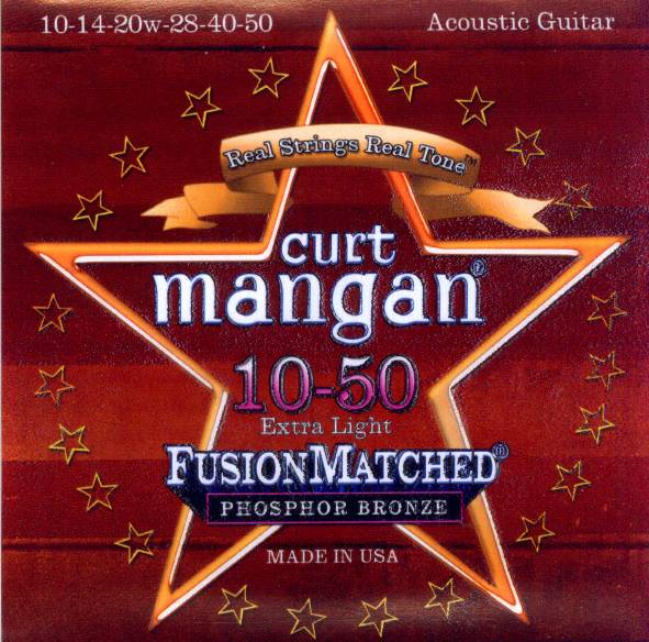 Curt Mangan acoustic guitar strings phosphor bronze 10-50