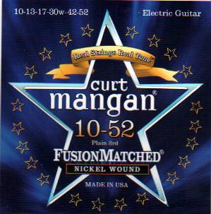 Curt Mangan electric guitar strings nickel wound 10-52