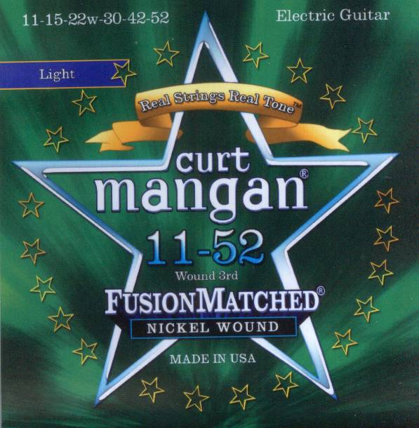 Curt Mangan nickel wound 11-52 electric guitar strings light