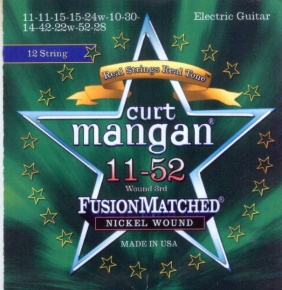 Curt Mangan 12 string electric strings nickel wound 11-52