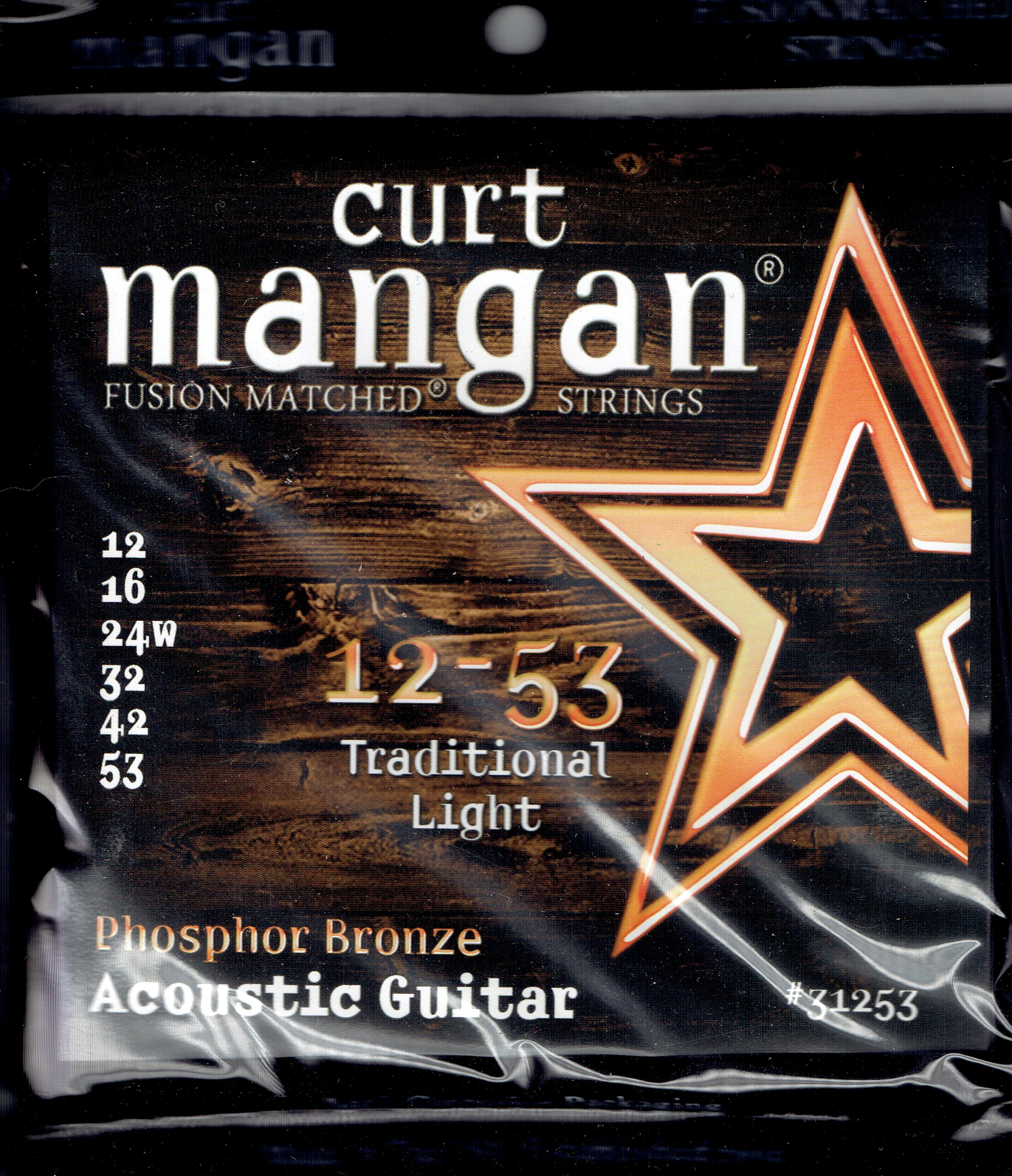 Curt Mangan acoustic phosphor bronze strings 12-53