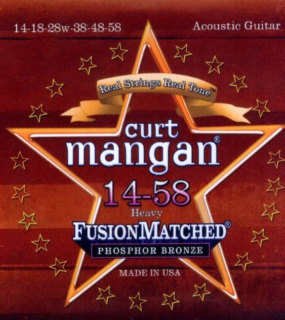 Curt Mangan acoustic strings phosphor bronze 14-58