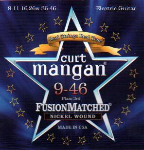 Curt Mangan electric guitar strings nickel wound 9-46