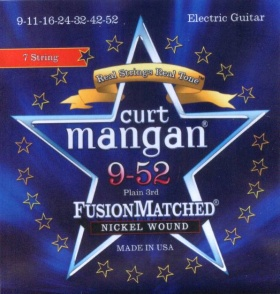 Curt Mangan electric strings 7 string nickel wound 9-52