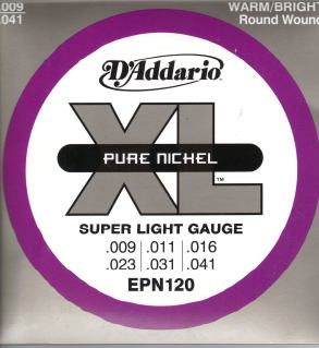 D'Addario Pure Nickel Strings