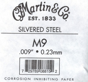09 Martin Guitar strings silvered steel single string