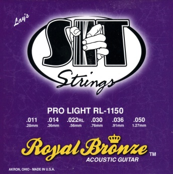 Sit acoustic guitar strings royal bronze RL1150 11-50
