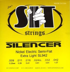 SIT silencer guitar strings nickel SL942 9-42