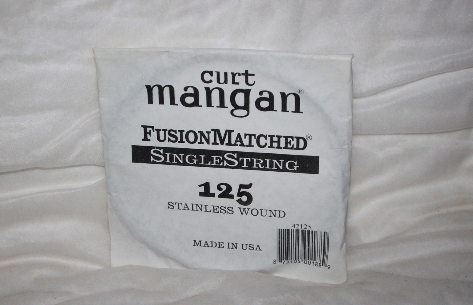 125 Curt Mangan single bass string stainless