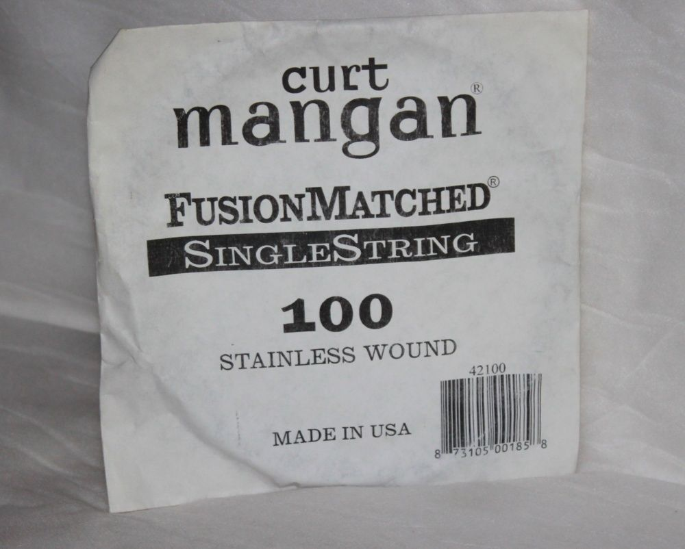 100 Curt Mangan single bass string stainless