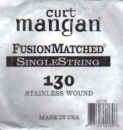 130 Curt Mangan single bass string stainless
