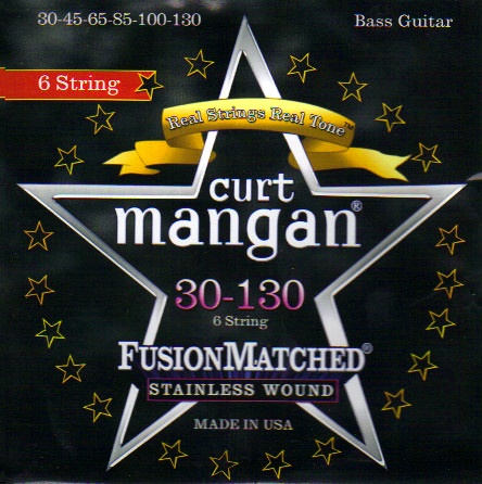 Curt Mangan stainless wound 6-string bass strings 30-130