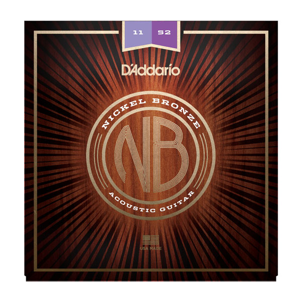 D'Addario acoustic guitar strings 11-52 NB1152