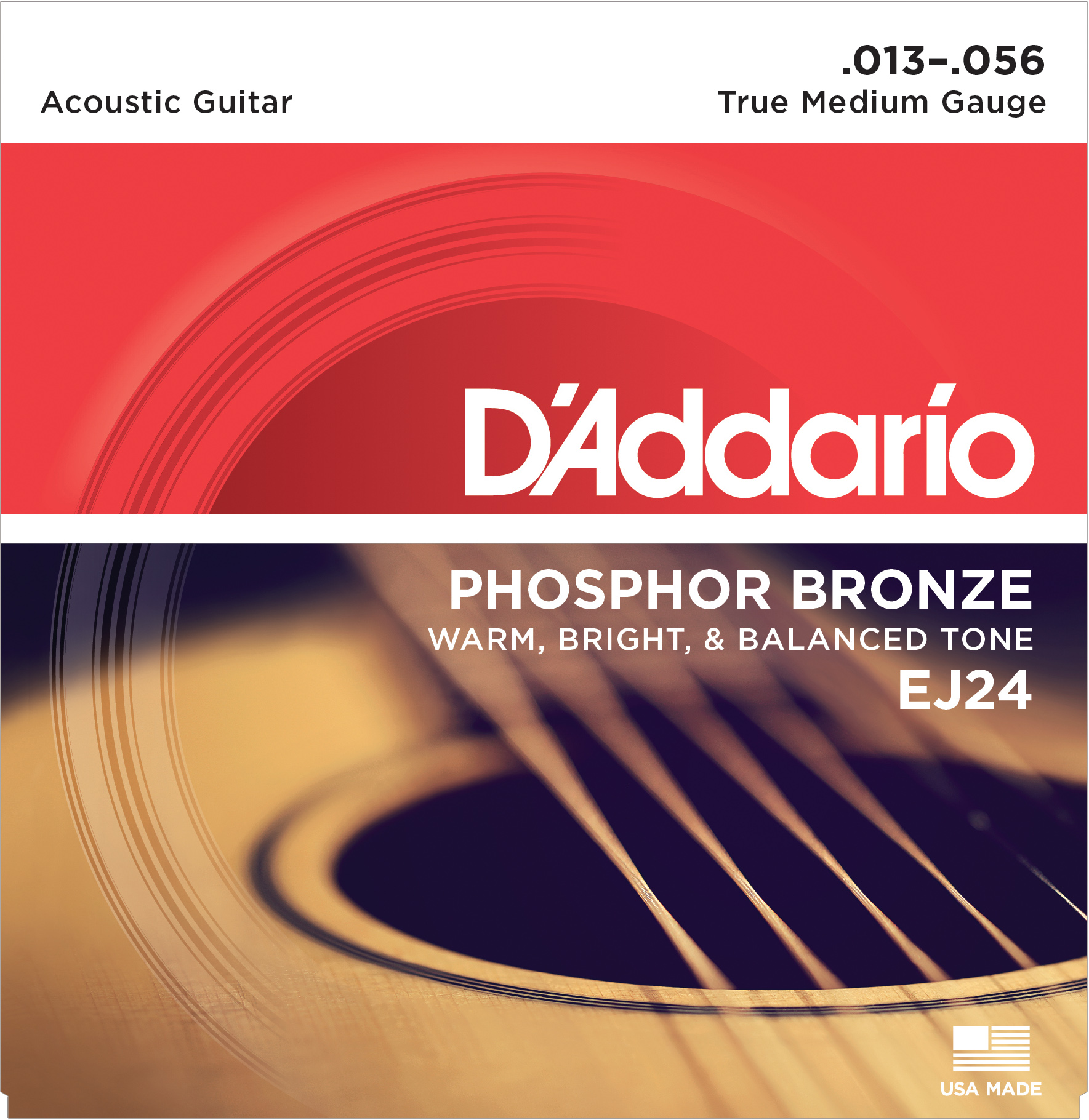 D'Addario acoustic guitar strings 13-56 EJ24