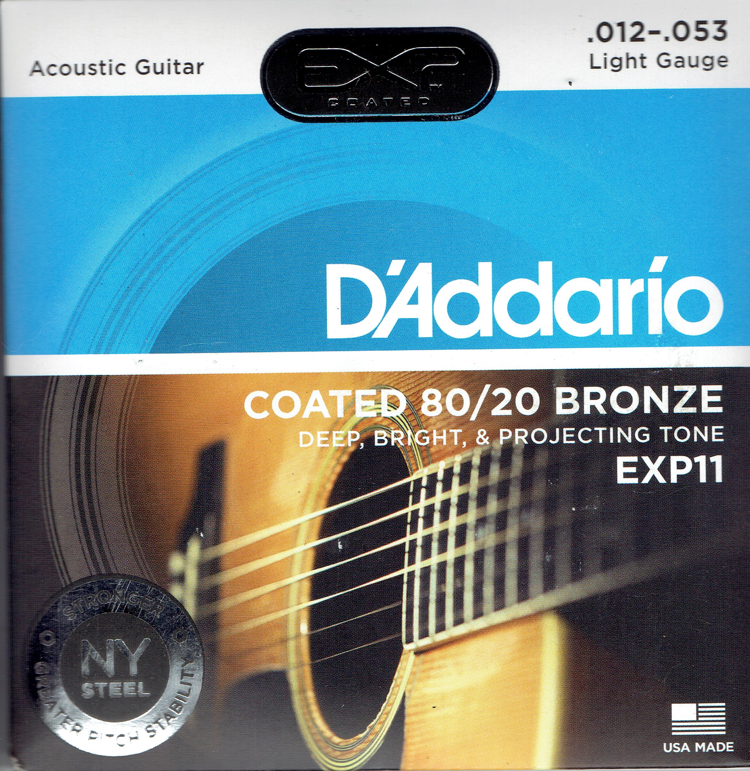 D'Addario 80/20 coated