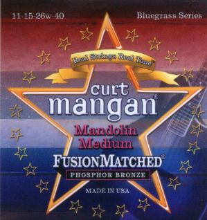 Curt Mangan mandolin strings medium phos loopend 11-40