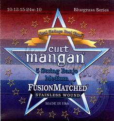 Curt Mangan Banjo Strings 5-String Medium Loopend 10-24