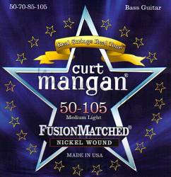 Curt Mangan nickel wound medium light bass strings 50-105