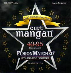 Curt Mangan stainless wound extra light bass strings 40-95