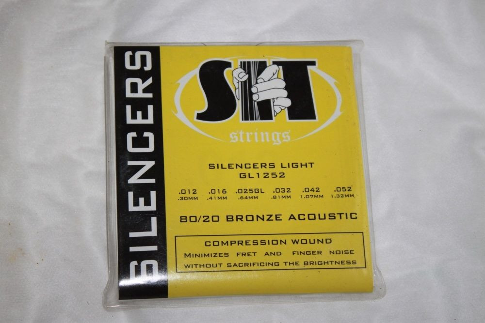 SIT Strings Acoustic Silencers 80/20 Bronze Strings 12-52