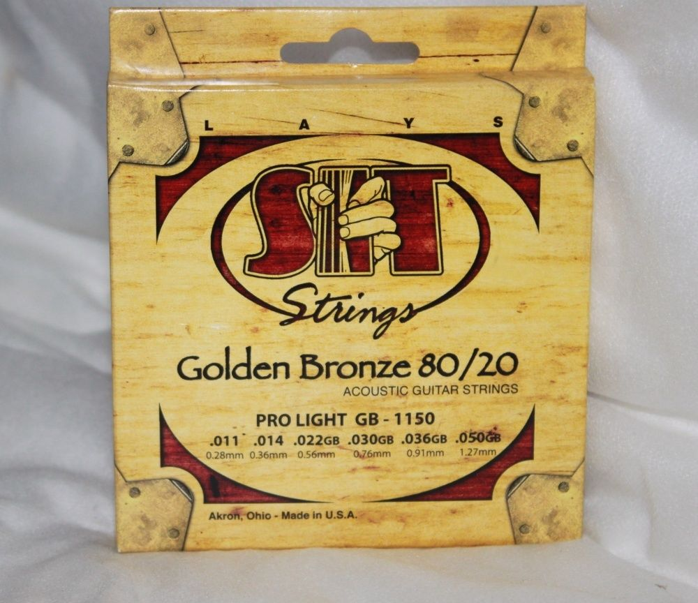 SIT Acoustic Guitar Strings Golden Bronze 80/20 11-50