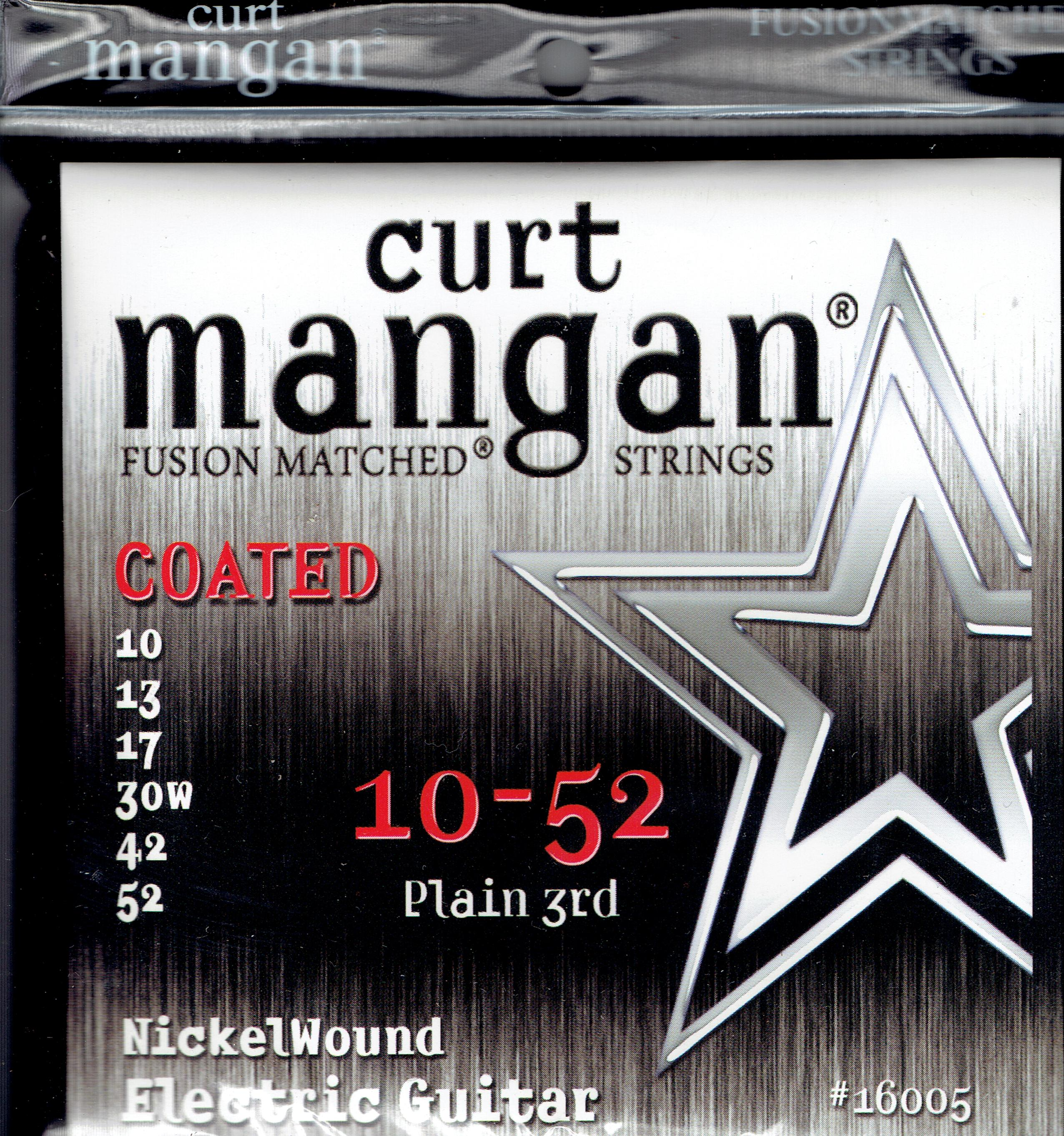 Curt Mangan 10-52 coated nickel guitar strings