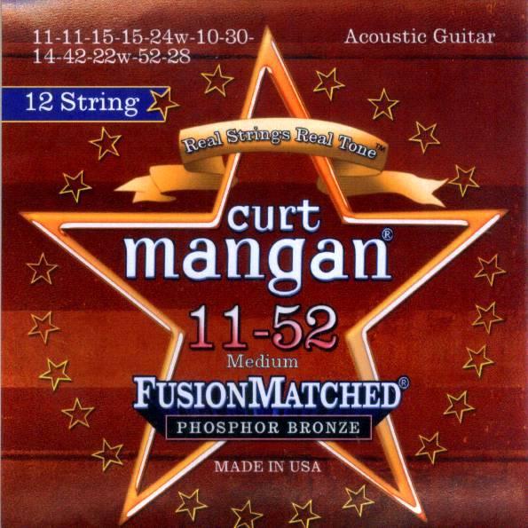Curt Mangan 13-56 Medium Coated Phosphor Bronze Acoustic Guitar Strings
