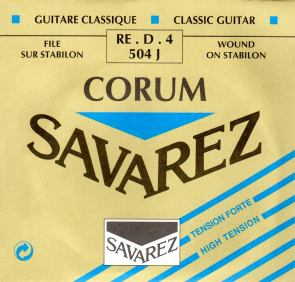 504J HT Savarez classical guitar strings. single D string