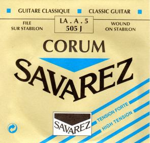 505J HT Savarez classical guitar single A string Corum
