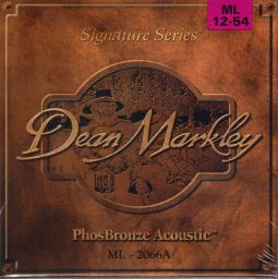 Dean Marley Phosphor Bronze Acoustic Guitar Strings 12-54