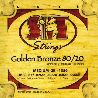 SIT Golden Bronze 80/20 Acoustic Guitar Strings 13-56