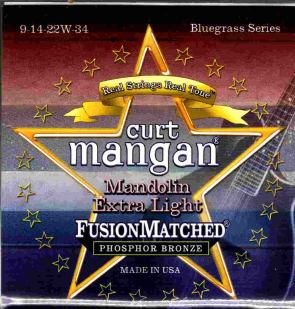 Curt Mangan mandolin strings extra light phosphor bronze 9-34