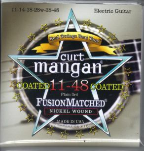 Curt Mangan coated nickel guitar strings 11-48
