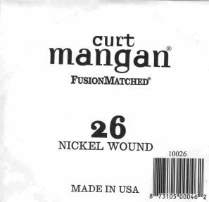 26 Curt Mangan single nickel string ball end