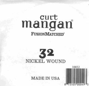 32 Curt Mangan single nickel string ball end