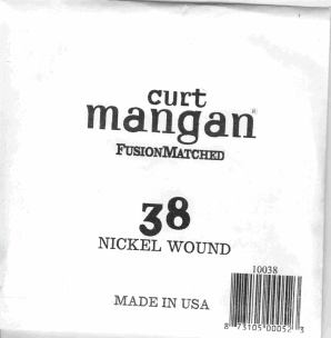 38 Curt Mangan single nickel string ball end