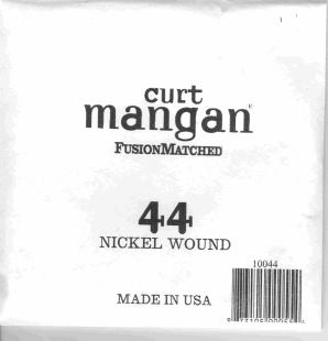 44 Curt Mangan single nickel string ball end