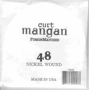 48 Curt Mangan single nickel string ball end