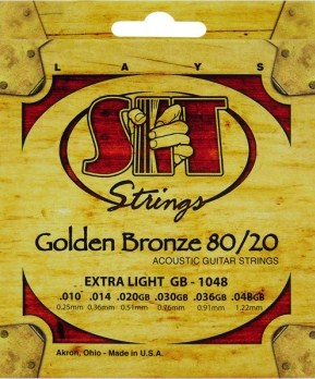 SIT Acoustic Guitar Strings Golden Bronze 80/20 10-46