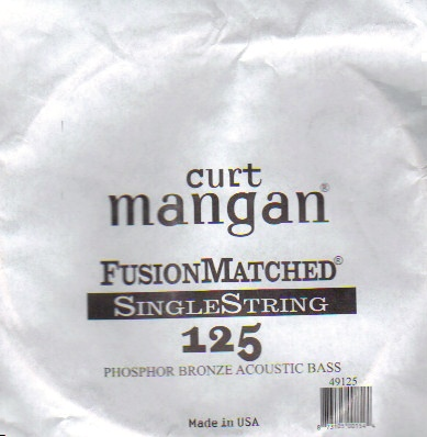 Curt Mangan phosphor bass single