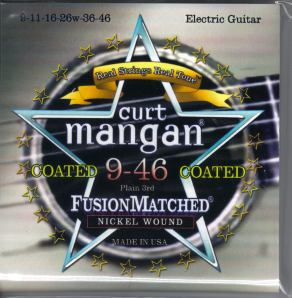 Curt Mangan coated nickel guitar strings 9-46