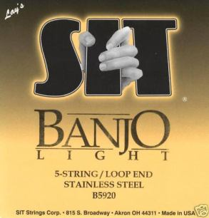 SIT Banjo Strings Light B5920 5 string 9-20