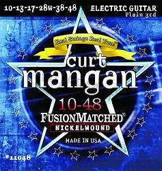 Curt Mangan electric guitar strings nickel wound 10-48