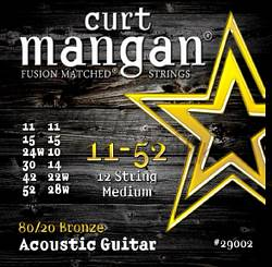 Curt Mangan guitar strings 80/20 Bronze 12-String 11-52