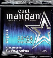 Curt Mangan nickel wound electric strings 11-54 drop tuning