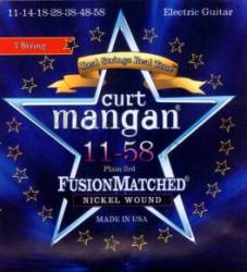 Curt Mangan electric guitar strings 7 string nickel wound 11-58
