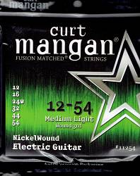 Curt Mangan electric strings nickel wound medium light 12-54