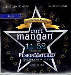 Curt Mangan stainless wound guitar strings 11-52